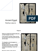 Egypt Papyrus Slideshow KS2
