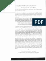 Assessing Interdisiplinary Learning Outcomes (Allen F. Repko)