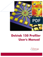 Dektak 150 Manual