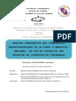 Analyse Comparative Herpetofaune