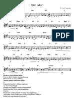 Sino Ako Music Sheet