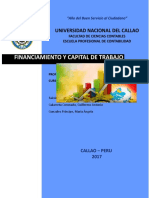 Financiamiento y Capital de Trabajo