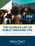44 Public Speaking Tips