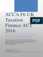 ACCA F6 Notes FA 2016 AccountancyTube.com