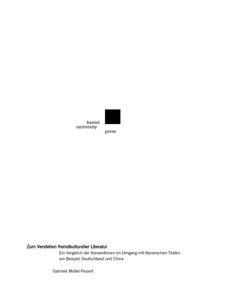Müller-Peisert - Zum Verstehen fremdkultureller Literatur: Vergleich ...