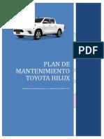 Plan de Mantenimiento TOYOTA HILUX 2017
