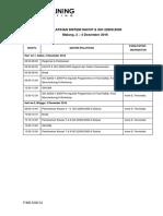 1. Jadwal Pelatihan Haccp & Iso 22000 Universitas Brawijaya (Malang, 3 - 4 Desember 2016)