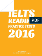 IELTS Reading Practice Tests 2016