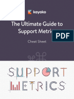 The Ultimate Guide to Support Metrics Cheat Sheet