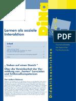 """Lernen als Soziale Interaktion - """"harte"""" Lernziele und Schlüsselkompetenzen"""