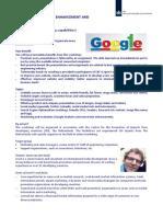 Programme Workshop Website and Online Marketing