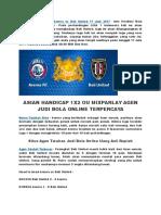 Info Prediksi Bola Arema vs Bali United 17 Juni 2017