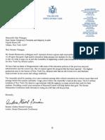 SenDem Letter on Mayoral Control