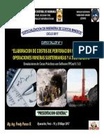 1) PRESENTACION DEL CURSO-TALLER N° 1 (19-May-17)