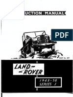 Land Rover Series I 19481958 Instruction Manual