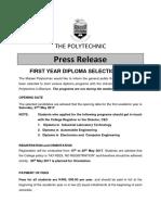 2016_17 Diploma Selection Press Release - Final