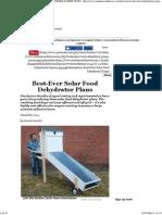 Best-Ever Solar Food Dehydrator Plans - DIY - MOTHER EARTH NEWS