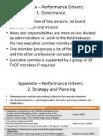Appendix Performance Drivers