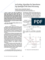A Modified Chirp-Scaling Algorithm for Spaceborne Squinted Sliding Spotlight SAR DATA Processing