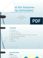 Lateral Pile Response During Earthquakes