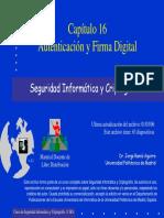 Autenticación y Firma Digital