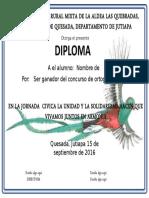 Diploma para Jornada Cívica Guatemala