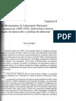 """Aldrighi, Carla. """"El movimiento de Liberación Nacional Tupamaros (1965-1975). Estructura interna, fases de desarrollo y política de alianzas"""""""