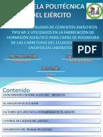 CONTROL DE CALIDAD DE CEMENTOS ASFÁLTICOS