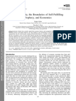 Social Reality, the Boundaries of Self-Fulfilling Prophecy, and Economics