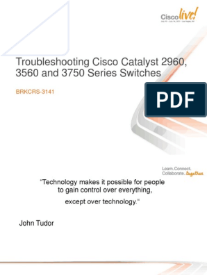 Troubleshooting Cisco Catalyst 2960, 3560 and 3750 Series