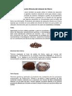 Reducción Directa del mineral de Hierro.docx