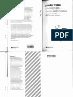 Libro - Pedagogía de La Autonomía. Saberes Necesarios Para La Práctica Educativa -- Freire Pablo