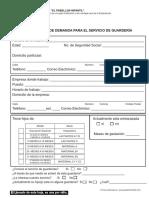 FORMA DE ENCUESTA GUARDERIA