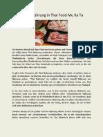 Eine Einführung in Thai Food Mu Ka Ta