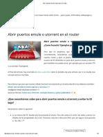 Abrir Puertos Emule o Utorrent en El Router