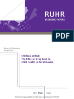 The effects of Crop loss on child's bmi
