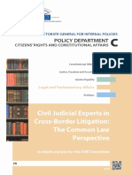 Civil Judicial Experts in Cross Border Litigation_common Law