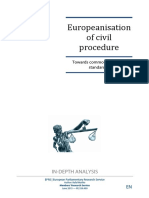 EP_Europenisation of Civil Procedure