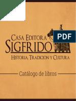 Catalogo Sigfrido Libros