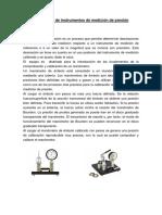 Calibración de Instrumentos de Medición de Presión LABORATORIO