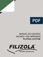Manual de Usuario - Filizola Platina Custom - [WWW.drbaLANCA.com.BR}