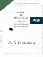 Manual do usuario, manutenção - Filizola BC Ouro - BC1505 - BC602 - [WWW.DRBALANCA.COM.BR}.pdf