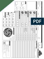 FichaCharacter Sheet BW