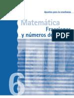 Fracciones y numeros decimales 6º docente