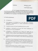 Décision du 9 juin 2017 de la Cour constitutionnelle du Burkina Faso