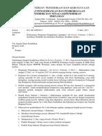 Surat Pelaksanaan on 2 Kehlian Ganda Prov. Aceh