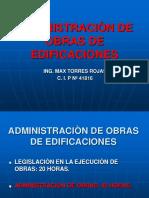 ADMINISTRACIÒN DE OBRAS DE EDIFICACIONES.ppt