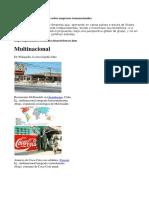 Empresas Transnacionales Concepto Económico