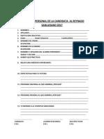 Ficha Personal Candidata