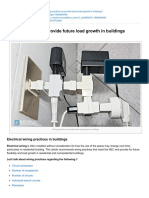 Wiring Practices to Provide Future Load Growth in Buildings